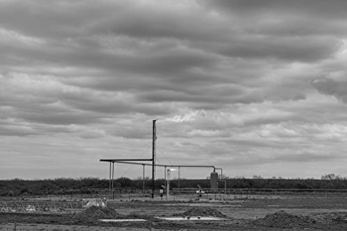 18 X 24 B W Photo Of A Small Natural Gas Facility Near The Town Of Carrizo Springs In Dimmit County  Texas 2014 Highsmith 88A