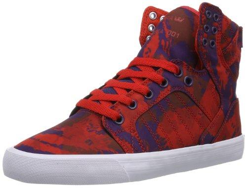 Supra WOMENS SKYTOP SW18022 Damen Sneaker Rot (PARTY CAMO RED/GRAPE - WHITE PCM)