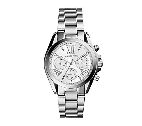 Michael Kors Women's Silvertone Stainless Steel Mini Bradshaw (Mini Ladies Jewelry Watch)