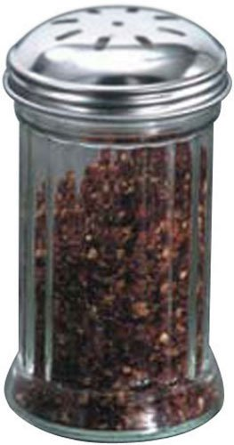 American Metalcraft (SAN317) 12 oz Plastic Spice Shaker w/Lid