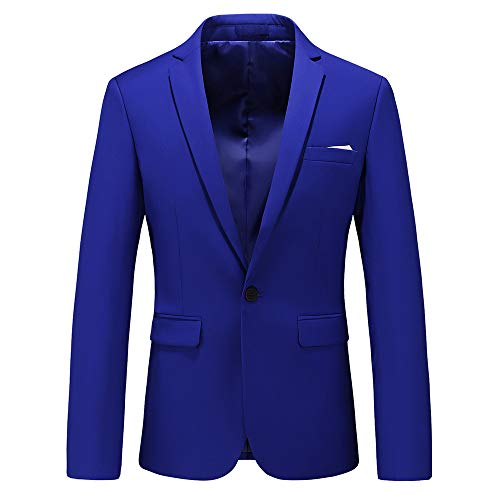 Man's Slim Fit Casual One Button Notched