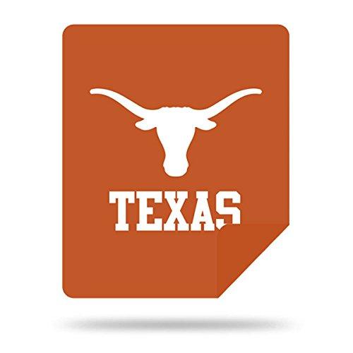 Officially Licensed NCAA Texas Longhorns Denali Silver Knit Throw Blanket, Burnt Orange, 60