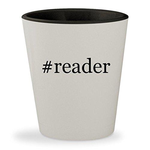 Price comparison product image #reader - Hashtag White Outer & Black Inner Ceramic 1.5oz Shot Glass