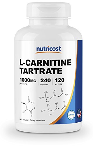 Nutricost L-Carnitine Tartrate 500mg,...