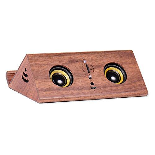 xingganglengyin Retro Wooden Bluetooth Speaker Mobile Phone Bracket Computer Audio Mini subwoofer USB Radio by xingganglengyin (Image #3)