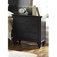 Liberty Furniture Hamilton III Bedroom 3-Drawer Night Stand, Black Finish