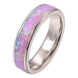 Pink Fire Opal 925 Sterling Silver Filled Ring Size 5 6 7 8 9 10 11 F1275