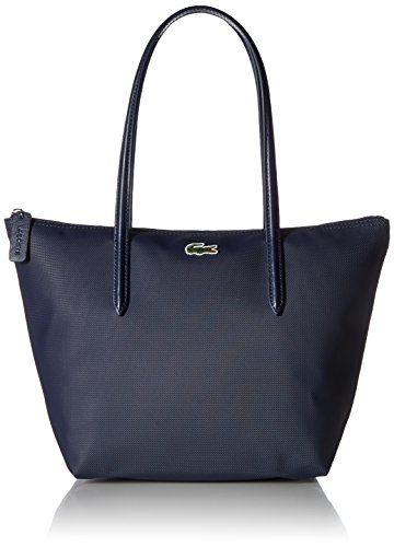 Lacoste Women's L.12.12 Concept Small Shopping Bag, NF2037PO, Navy Blue/Darkness-Pegasus, One Size