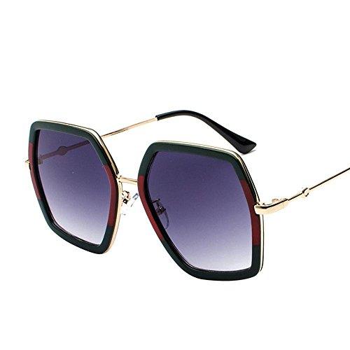de de Elegantes de Sol Personalidad Axiba Gafas Sol creativos Gafas Redonda E Hombre de Gafas Metal Regalos Cara Estilo Mujer 7F7Xw8fq