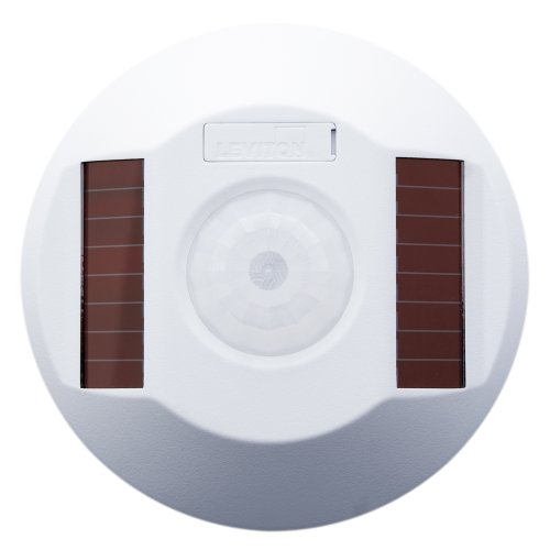 Leviton WSC15-IRW Wireless Self-Powered PIR Occupancy Sensor, 1500 Square Feet, White