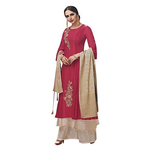 Maßanfertigung Custom to Measure Europe size 32 to 44 Ceremony Party Wear Straight Anarkali Palazzo Salwar Suit Women Designer Kleid Zeremonie Kleid Material Partei tragen indische Hochzeit Braut 2531 EMtld1tlCR
