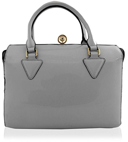 Handbag Ash Kukubird Large Synthetic Size Tote Plain Grey Designer zz0wUOYq