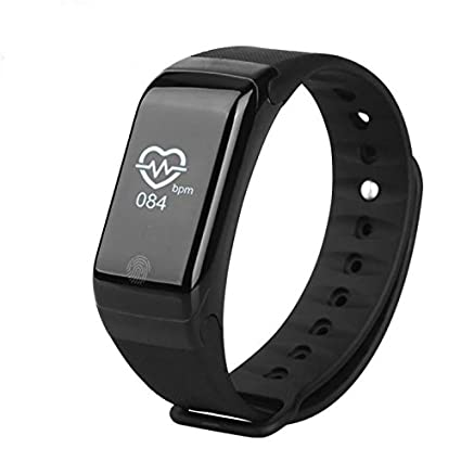 Black X7 Wristband Heart Health Monitor Bluetooth Smart Band Pedometer Temperature Altitude Sports Bracelet Fitness Tracker