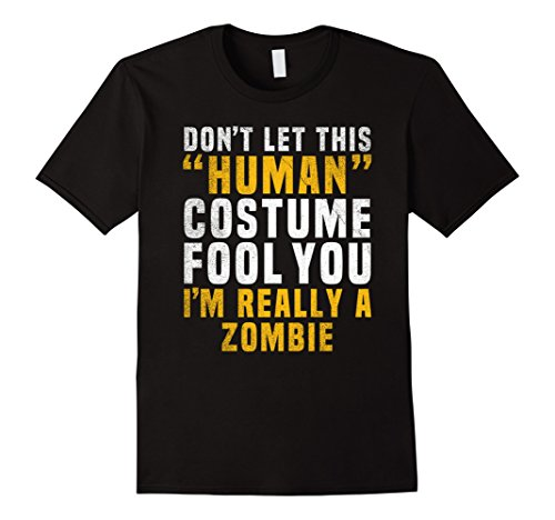 Mens Zombie Funny Halloween Shirt Costume Easy for Boys Women Men XL (Funny Zombie Costumes)