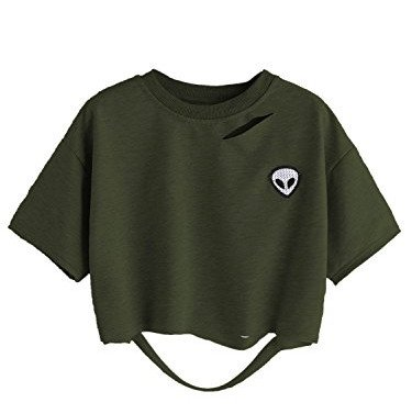 Distressed Crewneck T-Shirt - 7