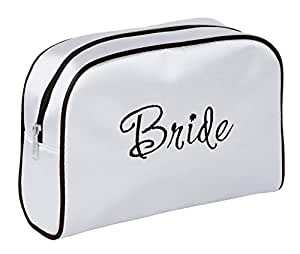 Lillian Rose White Bride Travel Accessory Makeup Bag