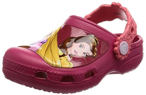 Crocs CC Dream Big Princess Clog (Toddler/Little Kid), Raspberry, 4-5 M US Toddler