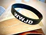 WWJD Black 100% Silicone Wristband - Silicone