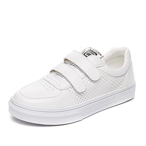 NGRDX&G Zapatillas Blancas, Gruesas, Huecas Y Transpirables, De Color Blanco, Para Mujer, Blanco, 36: Amazon.es: Deportes y aire libre
