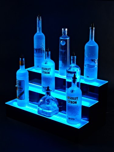 24'' inch 3 Tier Lighted Liquor Shelves Bottle Display LED  Home bar Lights by Armana Productions (Image #2)
