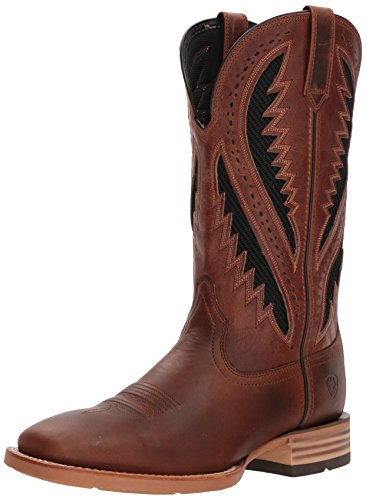 Ariat Men's Quickdraw Venttek Western Boot, Vintage Caramel/Two Tone Brown, 12 D US