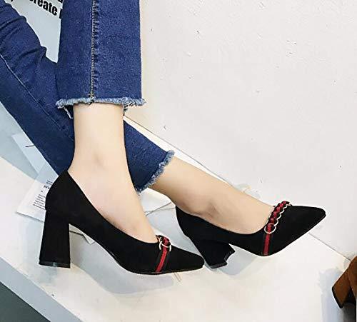 Scarpe b scarpe grosse con LIGYM le scarpe punta punta punta pigro tacchi a   3fe315