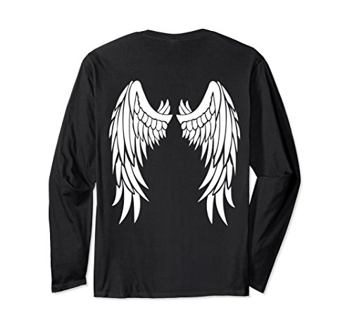 Unisex Angel Wings On Back T-Shirt Angelic Princess Fallen Wings Medium Black - Fallen Angel T-shirt