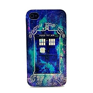 PEACH Simulate the Police Box Pattern TPU Soft Case for iPhone 4/4S