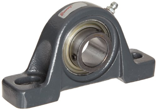 (Browning VPS-110 Pillow Block Ball Bearing, 2 Bolt, Setscrew Lock, Contact and Flinger Seal, Cast Iron, Inch, 5/8