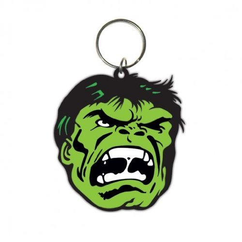 (The Incredible Hulk - Merchandise - Rubber Keychain / Keyring (Face) (Size: 1.5