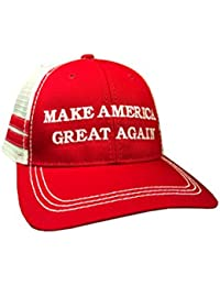 Make America Great Again Donald Trump Hat - Vintage Style Red Trucker Hat