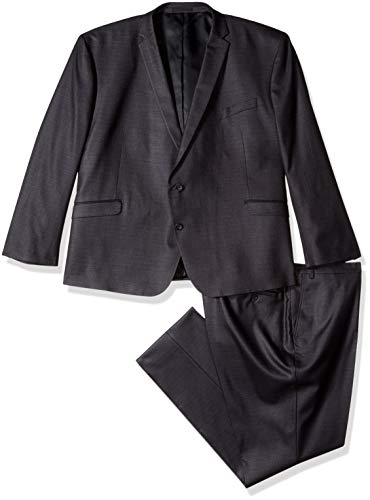 Suit Long Extra - Kenneth Cole REACTION Men's Big and Tall Big & Tall Performance Stretch Suit, Gunmetal, 52 Long