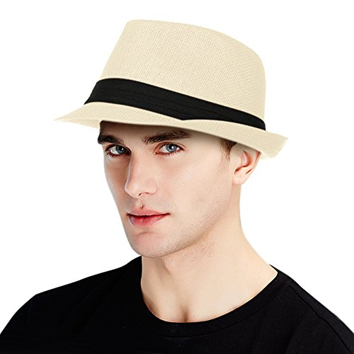 Summer Beach Straw Fedora Hat