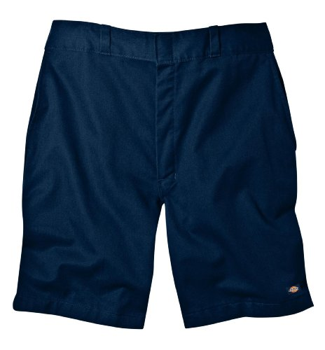 Dickies Men's 8 Inch Relaxed Fit Traditional Flat Front Short, Dark Navy, 40