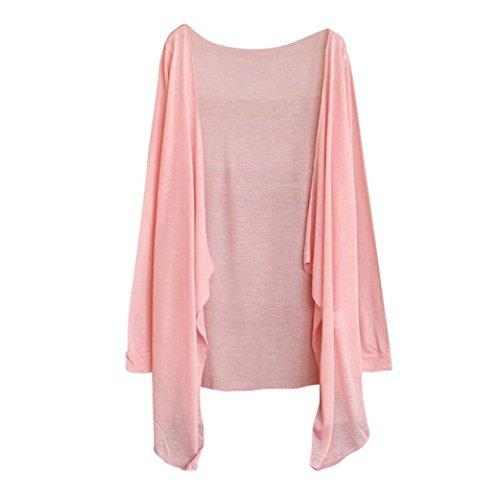 FEITONG Summer Women Long Thin Cardigan Modal Sun Protection Shawl Jacket(One (3/4 Sleeve Zip Jacket)