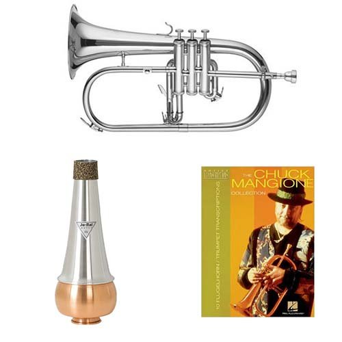 Band Directors Choice Bb Intermediate Flugelhorn w/Mute & Chuck Mangione Book by Band Directors Choice Flugelhorns
