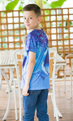 RAISEVERN Funny Unisex Kids 3D Printed T-Shirts Casual Tops Tees Cool Short Sleeve for Teen Boys Girls 6-14T
