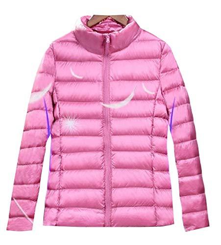 Gocgt Womens Packable Ultra Light Weight Short Down Jacket Coats Pink