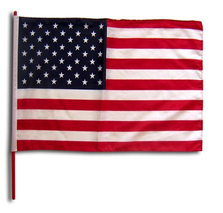 Small 12 Inch X 20 Inch Replacement U.S.A. Flag For Whip ()