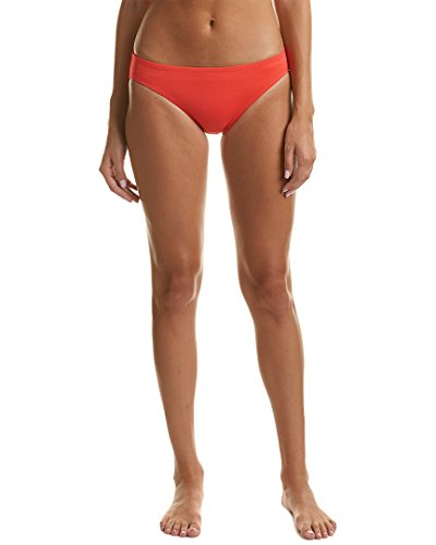 Tommy Hilfiger Women's New England Classic Bikini Bottom Fiery Red Swimsuit - Hilfiger Tommy England