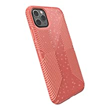 Speck Products Compatible Phone Case for Apple iPhone 11 Pro Max, Presidio Grip + Glitter Case, Lilypink Glitter/Papaya Pink