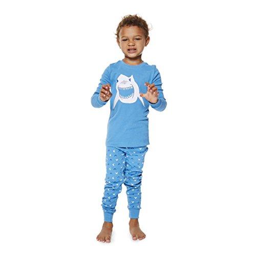 Boys Pajamas Shark 2 Piece 100% Super Soft Cotton (12m-8y) by Bluenido (Image #3)