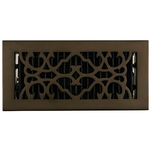 """Naiture 4"""" x 14"""" Solid Brass Floor Register Traditional S..."""