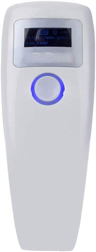 Zxcvlina Barcode Reader Barcode Scanner Wireless Bluetooth CCD Barcode Scanner Bar Code Reader for Android iOS Shockproof Color : White, Size : One Size
