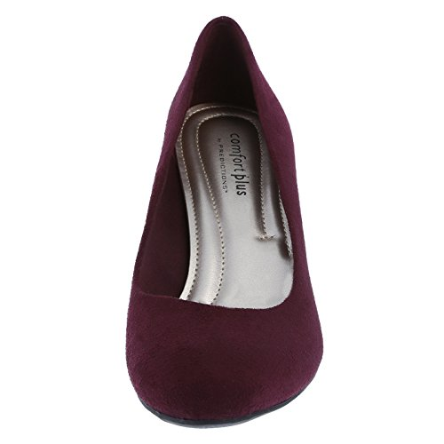 Predictions Women's Suede by Comfort Pump Wine Karmen Plus St6Eqw