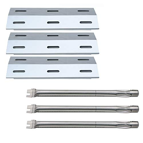 Hisencn Ducane Gas Barbecue Grill 30400040 Replacement Stainless Steel Burners & Stainless Steel Heat Plates