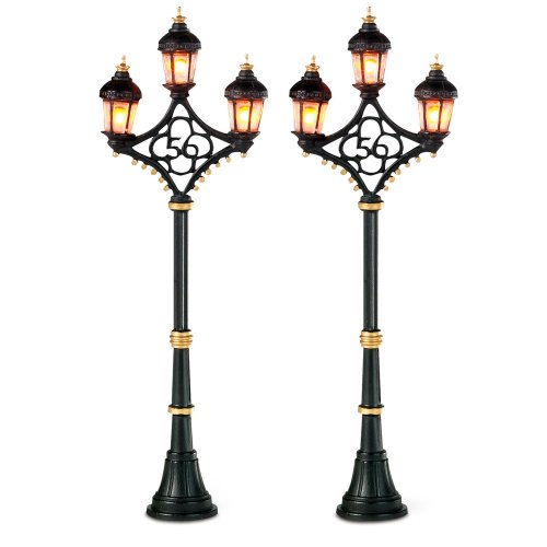 Department 56 Accessories for Villages Fifty-Six Street Lights Accessory Figurine (Set of 2) (Lamp Post Village Christmas)