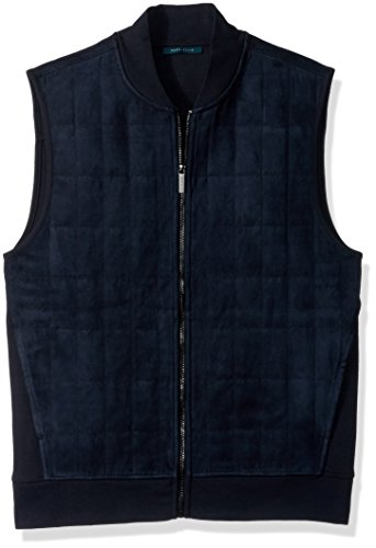 Quilted Faux Suede Vest - 2