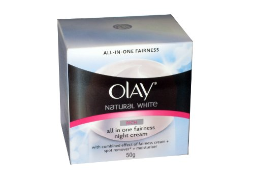 Olay Natural White Rich All in One Fairness Night Cream 50g (Pack of 2)