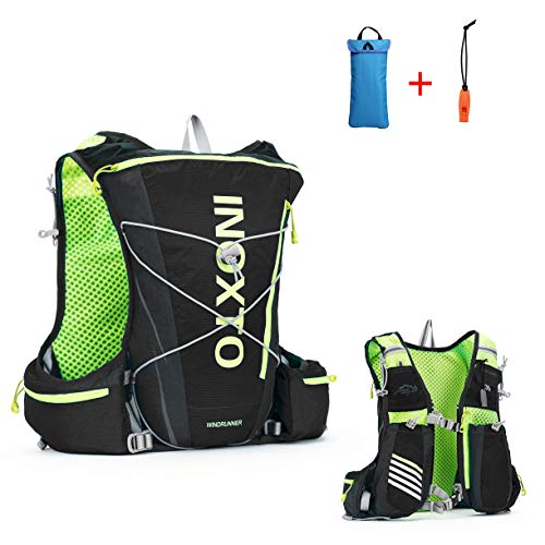 IBTXO Running Race Hydration Vest 10L Outdoors Hydration Pack Backpack for Marathon Running Cycling Hiking Fits Men and Women (Black)